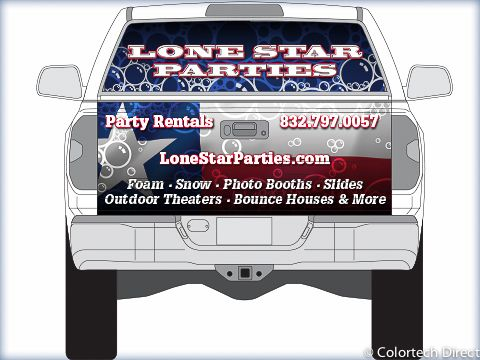 Tailgate with Window Graphic