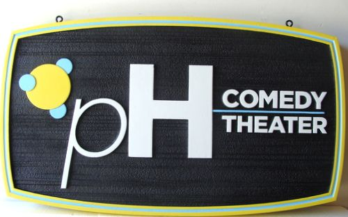 SA28026 - Carved, High Density Urethane Sign (HDU) Sign for Comedy Theatre