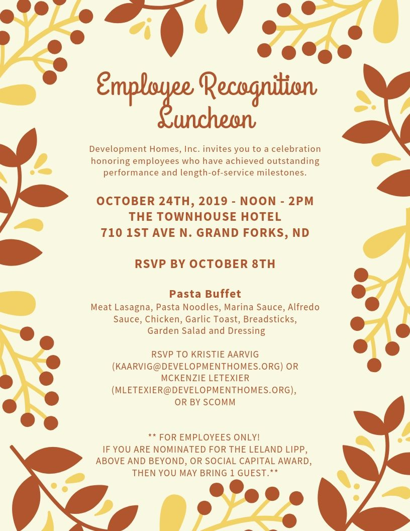 Employee Recognition Luncheon