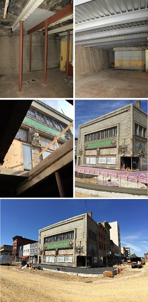 Sullivan Building Update: Basement Construction September 26, 2016