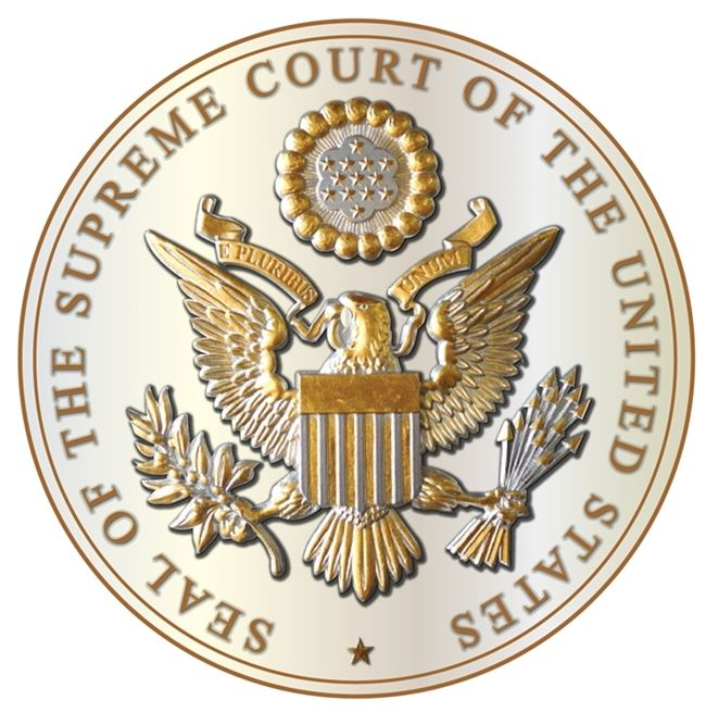 ME5055 -  Great Seal of the US Supreme Court, 3-D