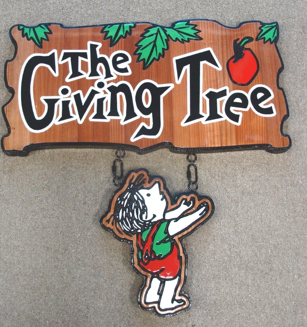 "N23030 - A Redwood Elementary School Wall Plaque, ""The Giving Tree"""
