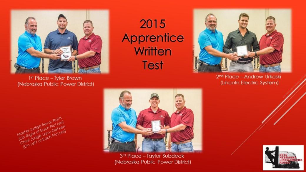 2015 Apprentice Written Test