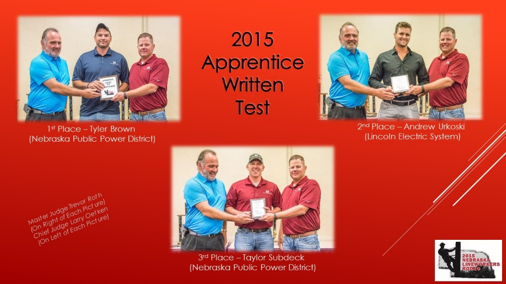 2015 Apprentice Written Test