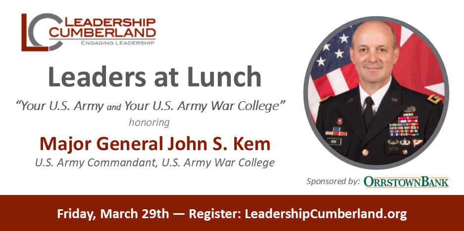 Leaders at Lunch with Major General Kem