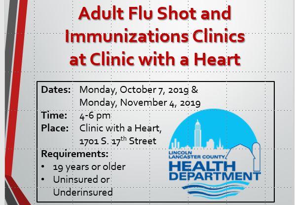 Adult Flu Shot and Immunization Clinics!