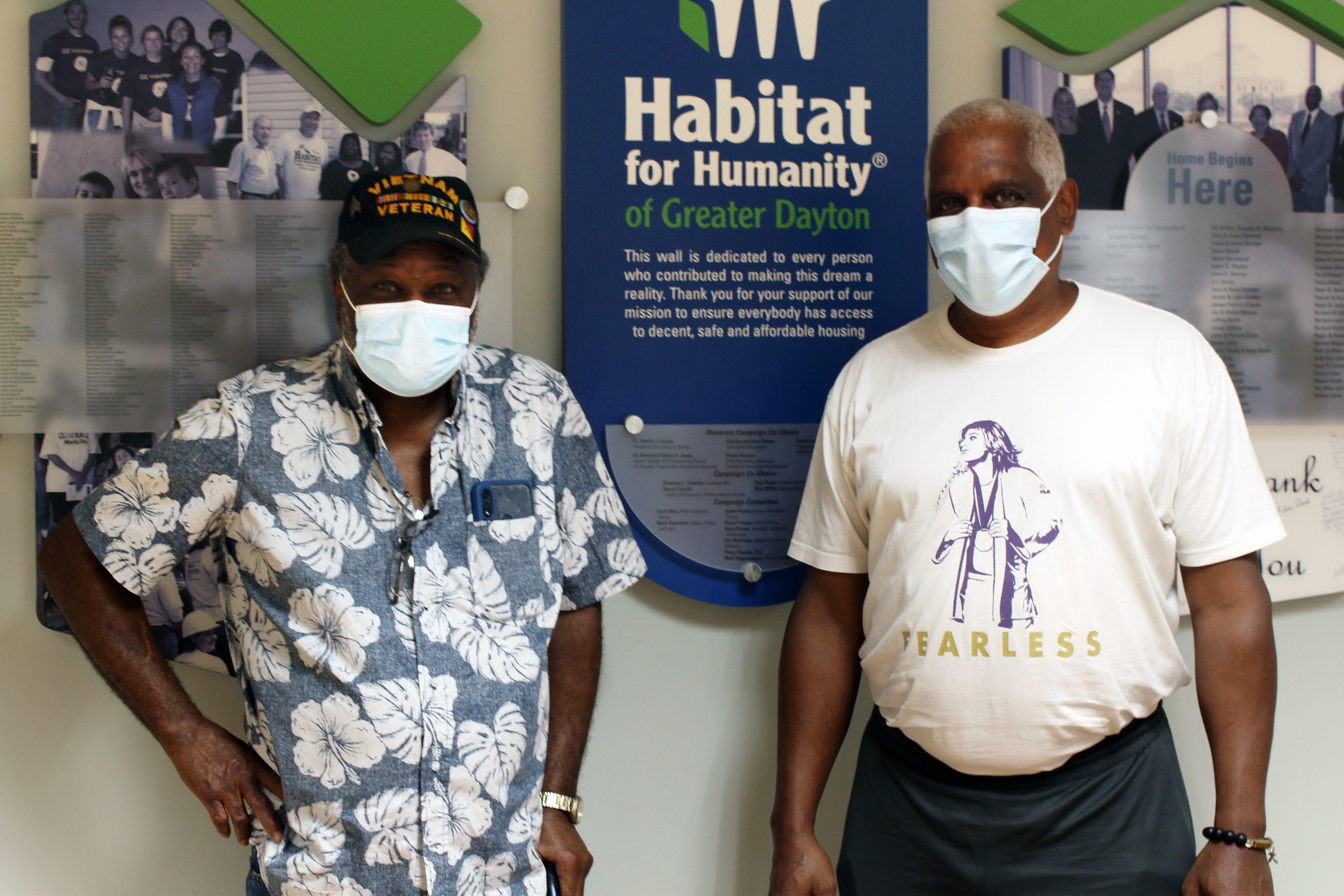 Veteran, Larry Jackson and Dayton Habitat's Galen Curry.