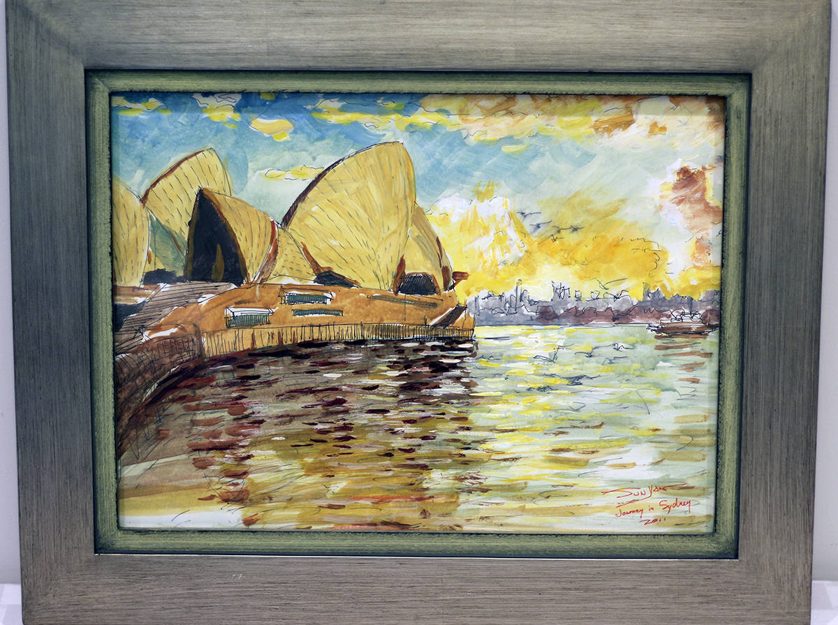 """Journey in Sydney"" - Donated by artist Yan Sun"
