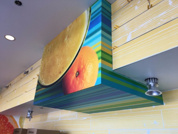 Restaurant wall graphics and murals in Orange County CA