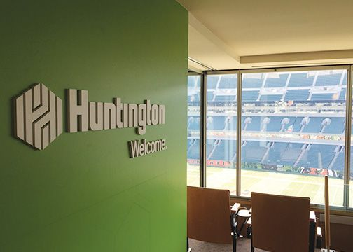 Huntington Bank Dimensional Lettering Paul Brown Stadium 2