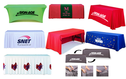 Exhibit Table Skirts, Throw Covers & Runners