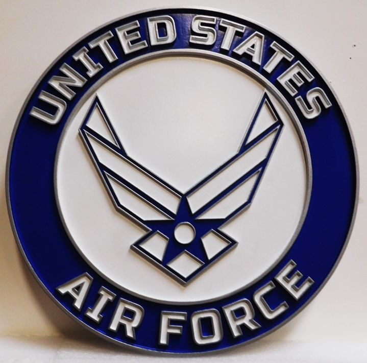 LP -1180- Wings Emblem of the United States Air Force, 2.5-D Painted Artist Painted