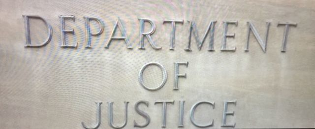 AP-2310 - Carved Aluminum-Plated Letters for Identification of a Building of for theDepartment of Justice