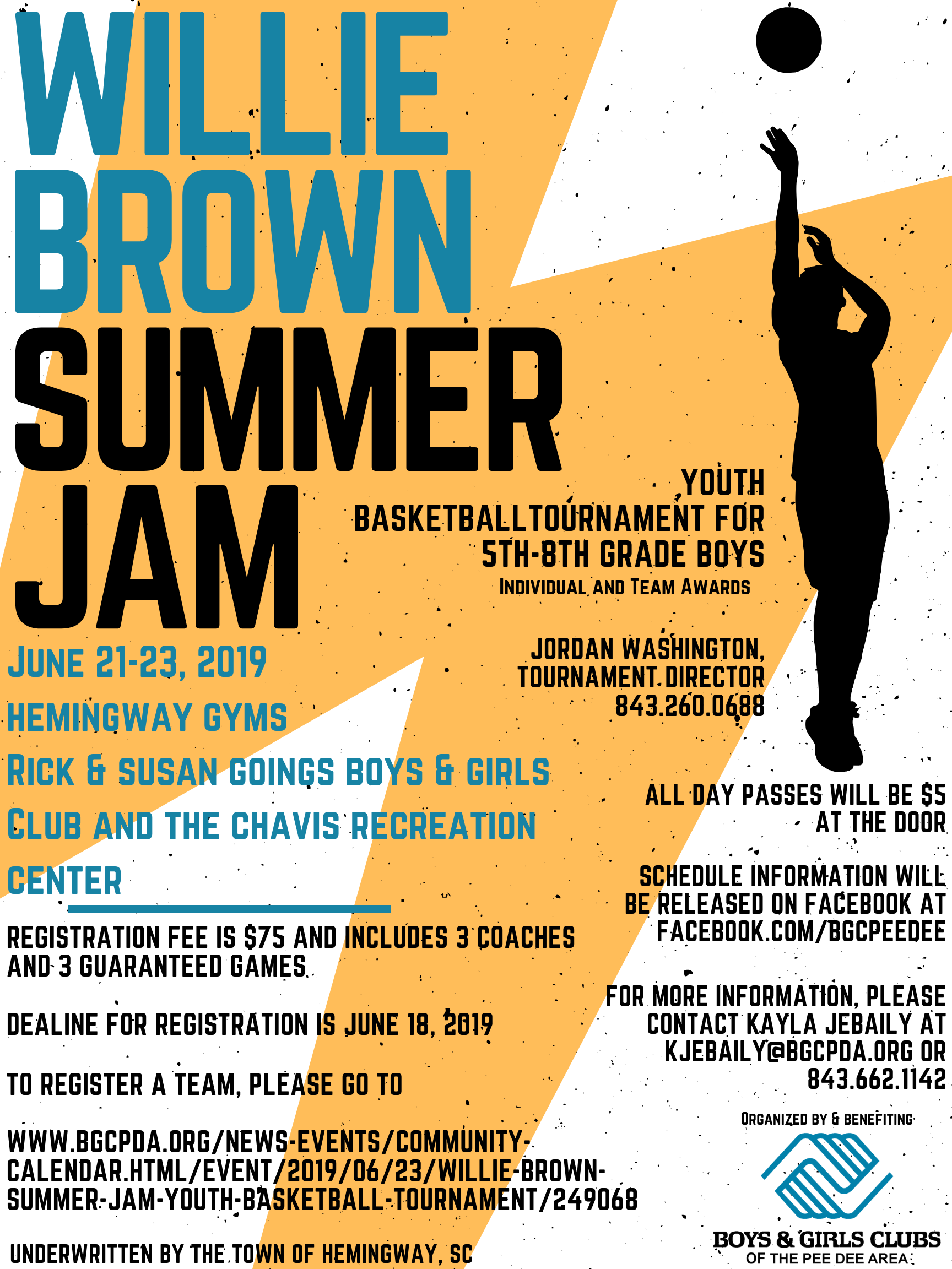 Willie Brown Summer Jam Youth Basketball Tournament