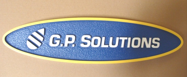 """SA28535 - Corporate Identity Wall Sign for the """"GP Solutions"""" Company."""