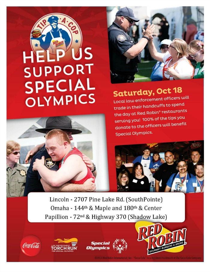 Tip-a-Cop at Red Robin this Saturday!