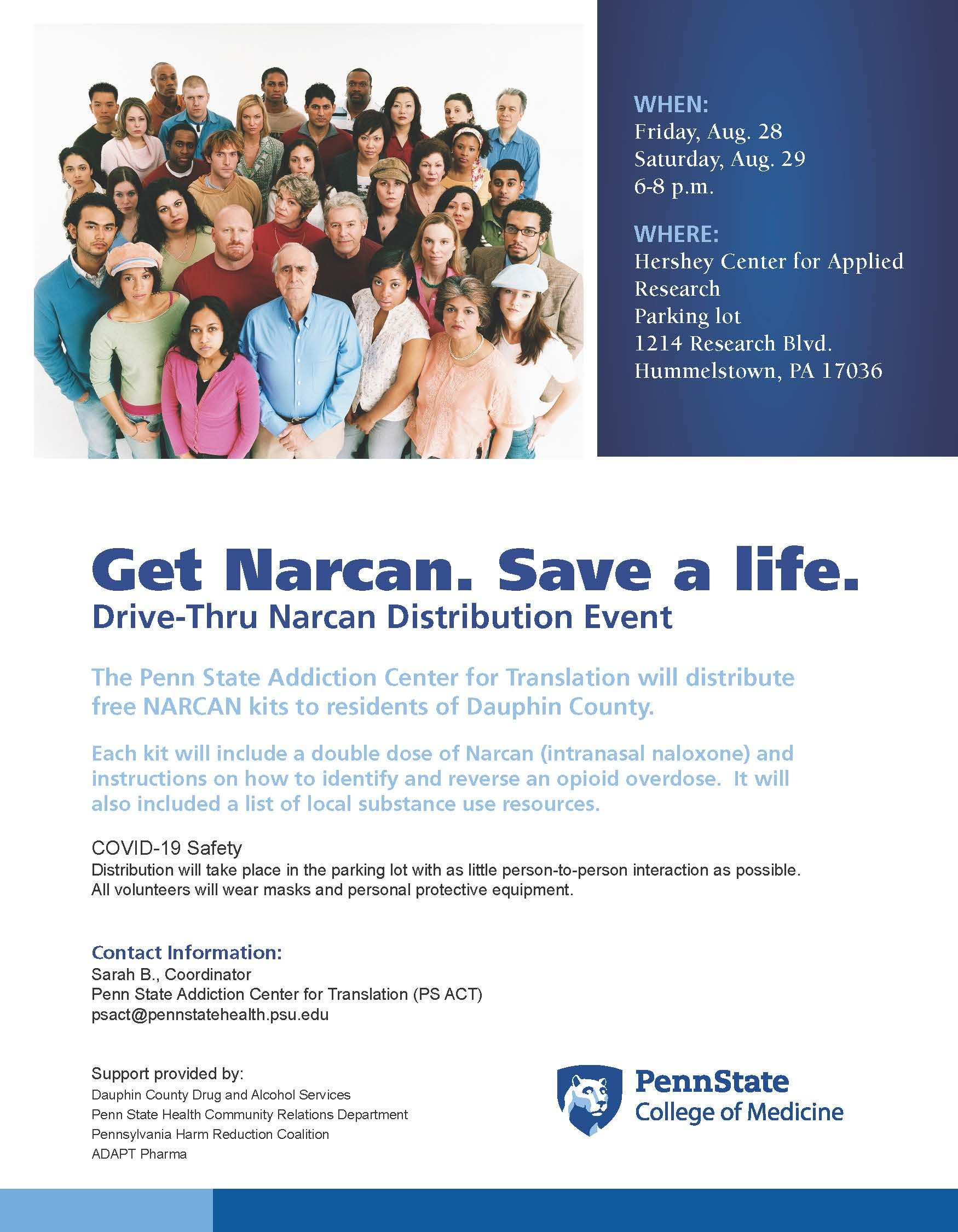 Get Narcan. Save a life.