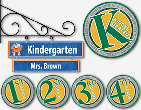 Room, Teacher & Grade Level Signs