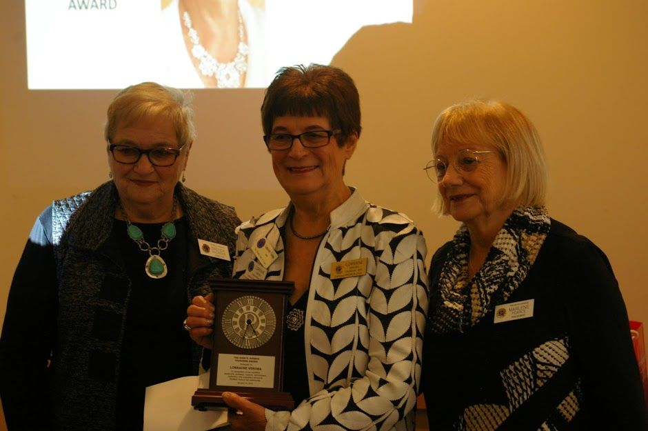 This Years John Morris Award Recipient - Lorraine Veroba