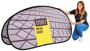 Sydney Fabric Pop Out Banner