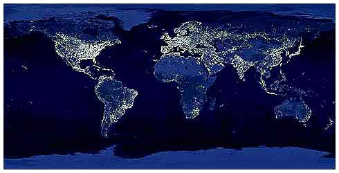 The World at Night (from Satellite Imaging)