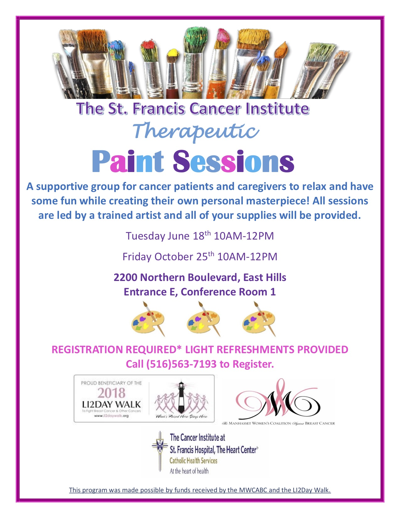 The St. Francis Cancer Institute Therapeutic Paint Sessions