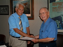 Robert Frey donates Safford documents