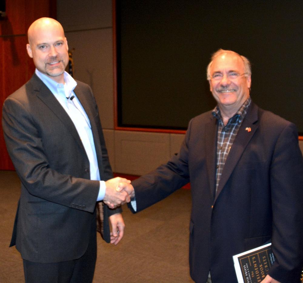Dr. David Priess with NCMF President Dick Schaeffer