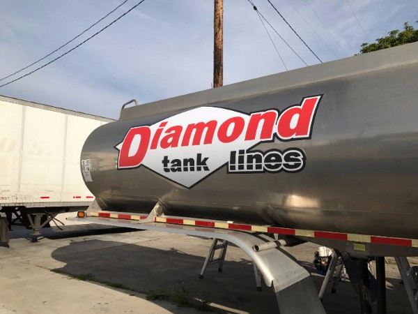 Vinyl Decals for Tanker Trucks in Los Angeles County