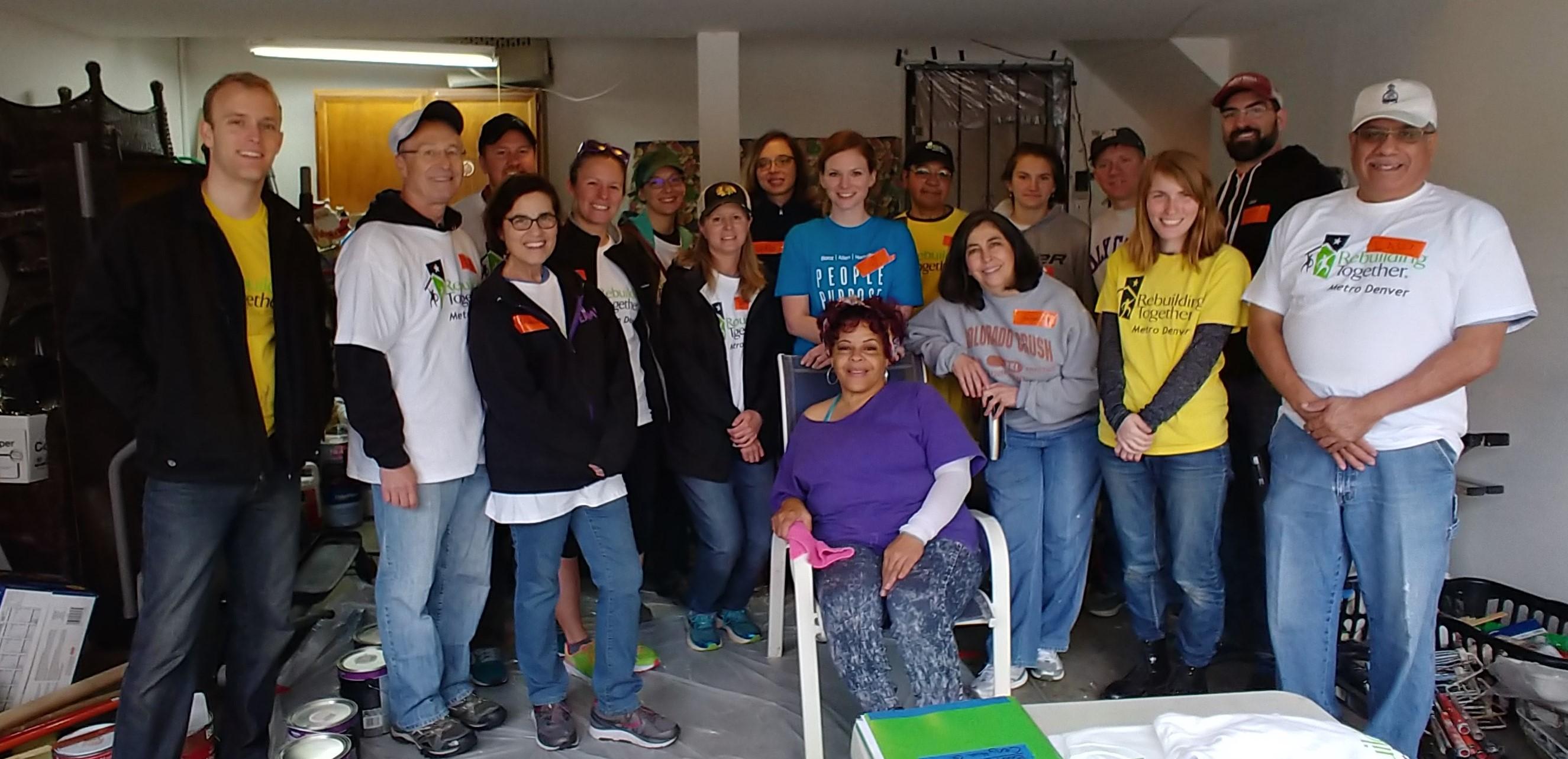 Booz Allen Hamilton repairs Cenythia's home