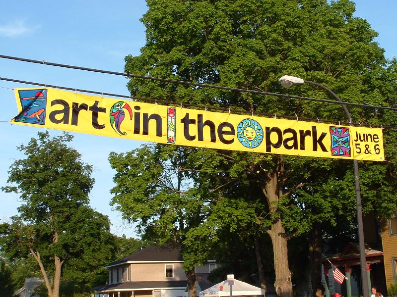Art in the Park 30' x 3' Banner