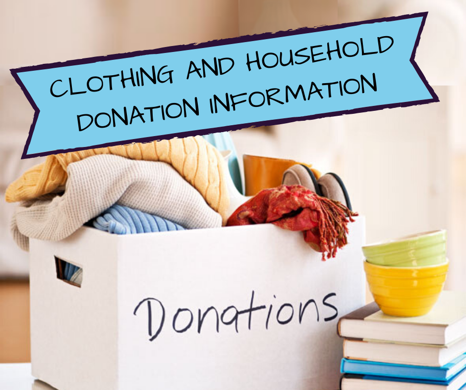 Clothing and Household Donation Information