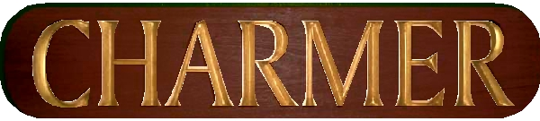 L21804 - Mahogany Yacht Name Plaque