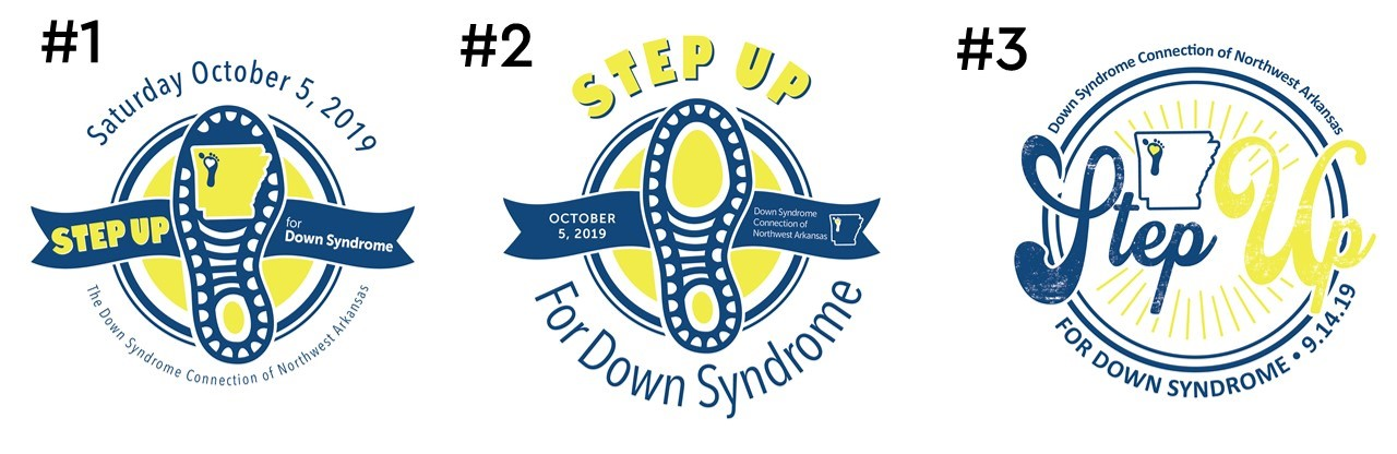 Vote for 2019 Step Up For Down Syndrome Logo!