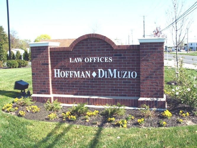 A10155 - Brick Monument Sign for Law Offices