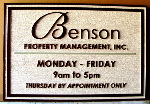 C12317-  Sandblasted Property Management Wall Sign