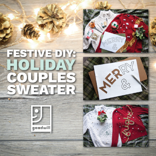 Customize Your Own Holiday Couples Sweater