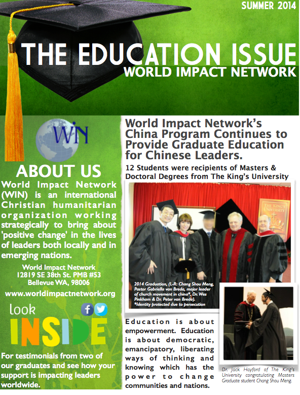 Summer 2014 Education Newsletter