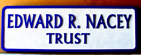 C12117- Sandblasted Financial Trust Wall Sign