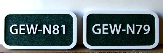 KA20905 - Apartment or Condo Unit Number Plaques