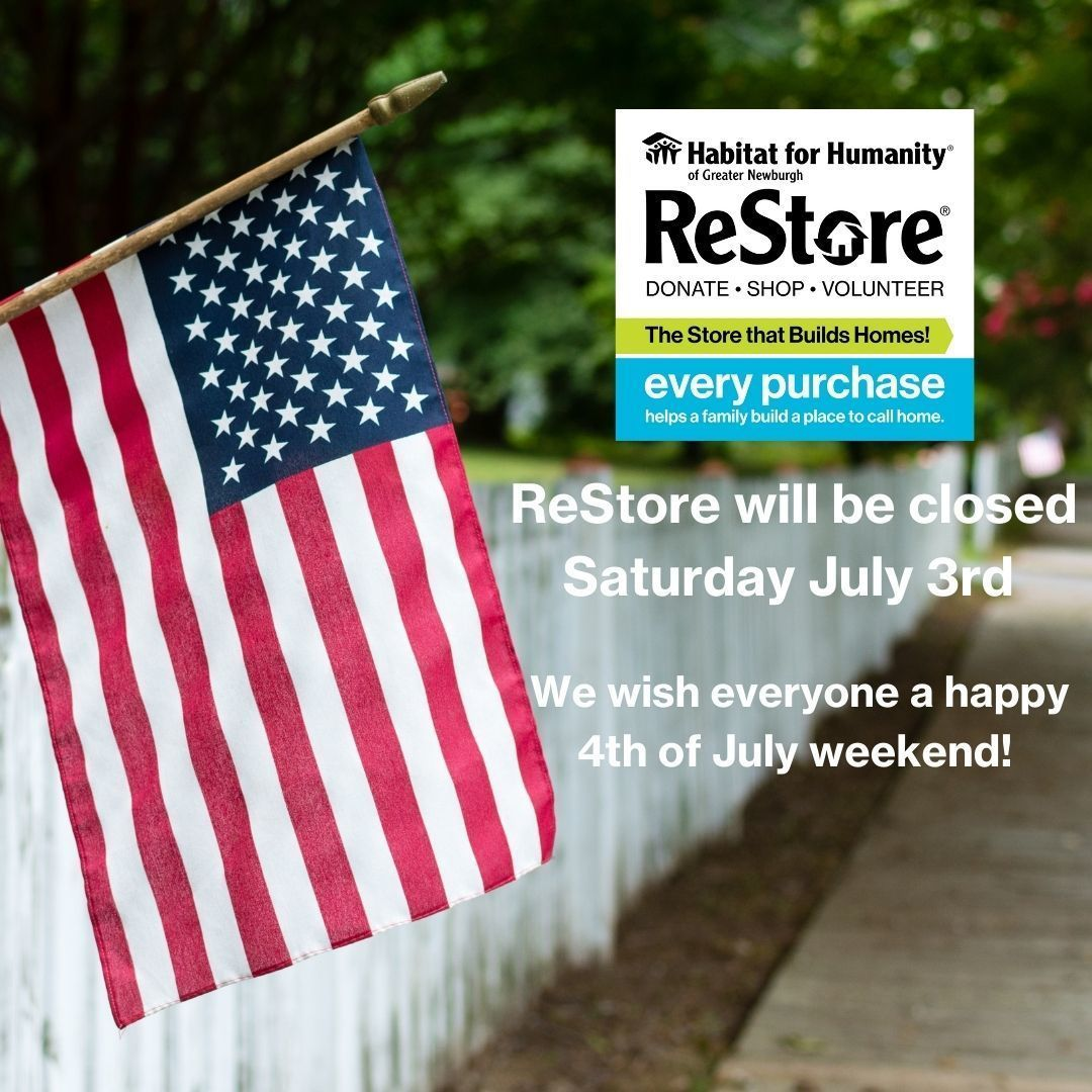 ReStore Closed on Saturday July 3rd