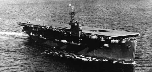 USS Bogue, a typical Charger class escort carrier.