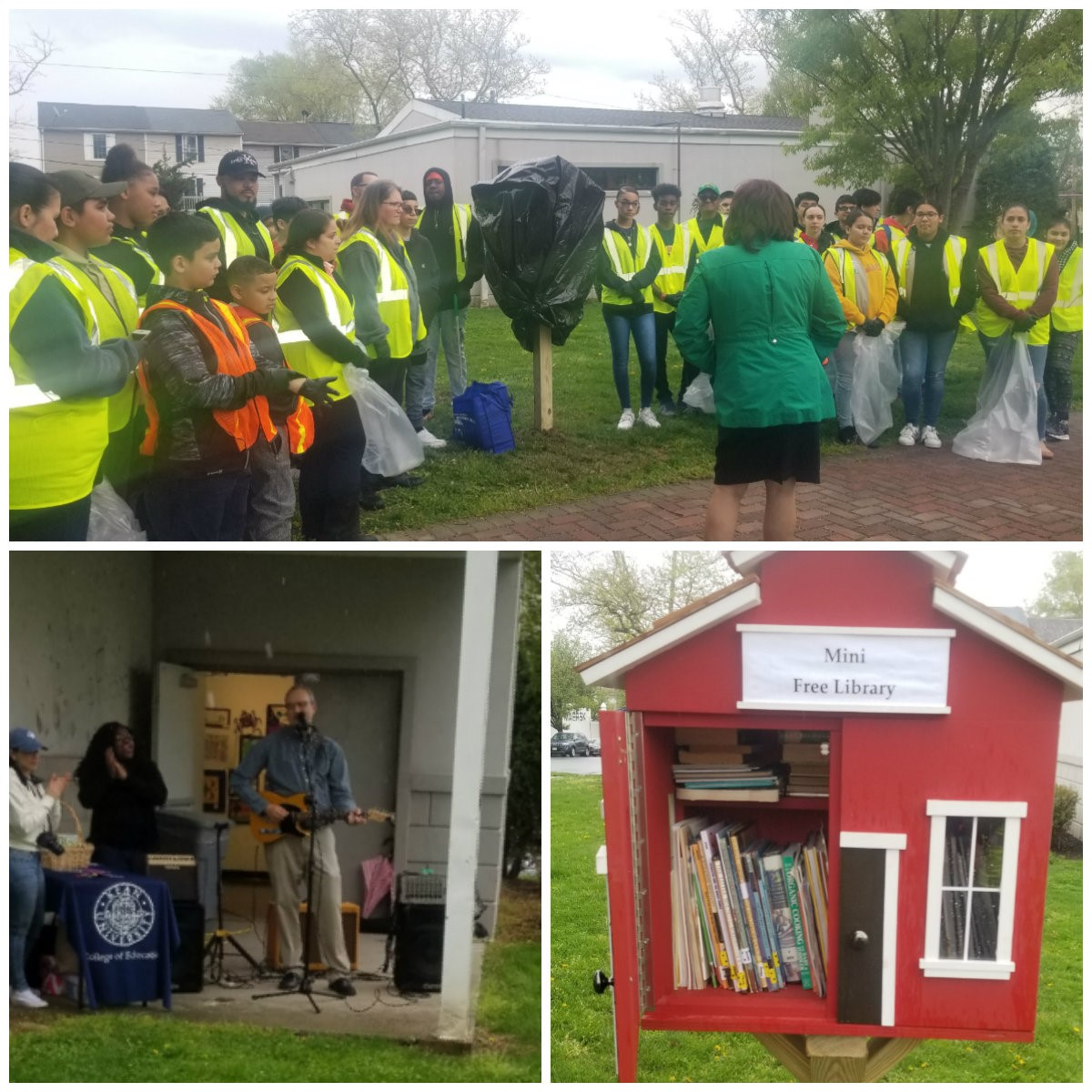 Earth Day Clean Up and Mini Library Install April 2019