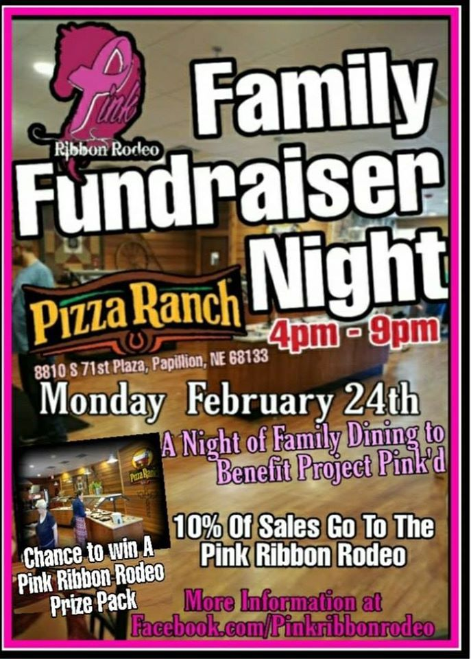Pink Ribbon Rodeo February Family Fundraiser Night