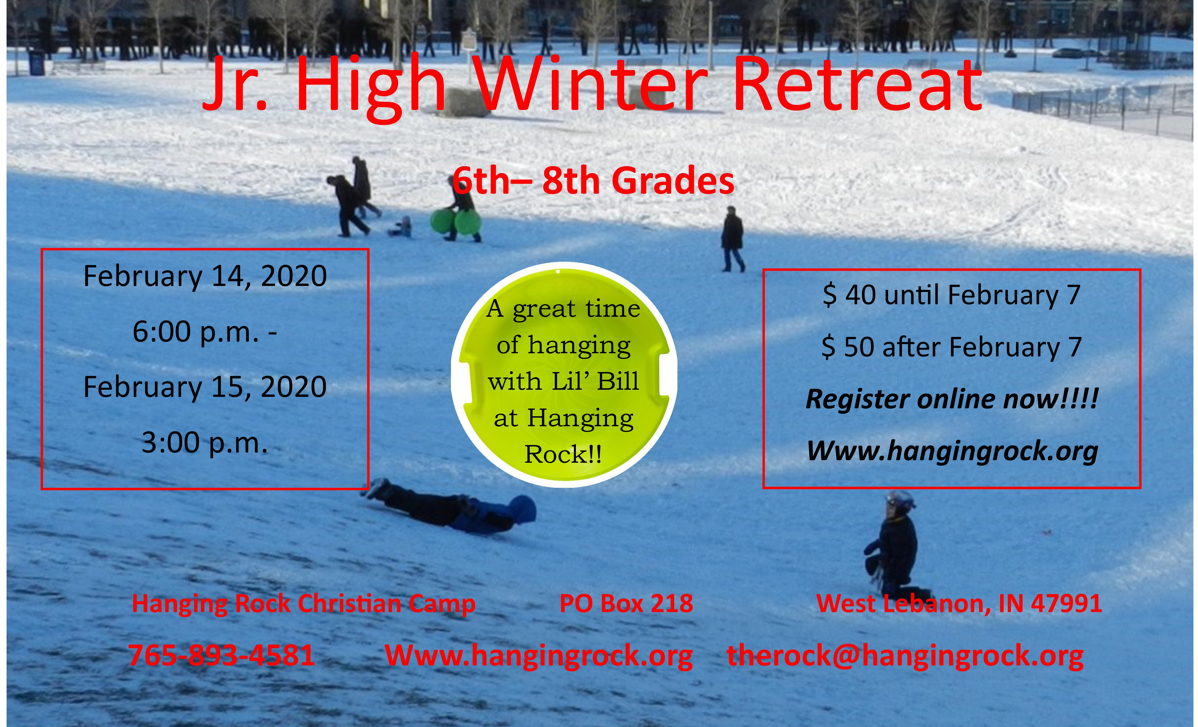 Jr. High Retreat