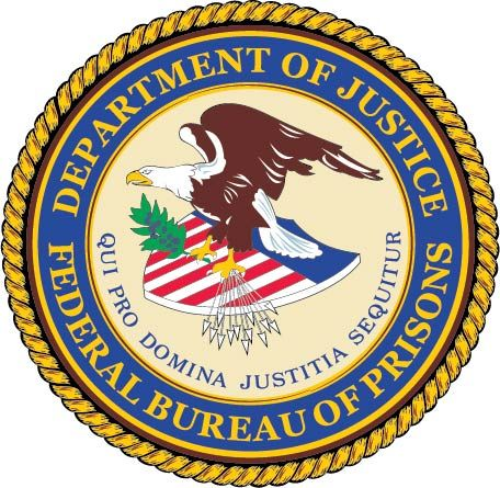 U30379 - Department of Justice (DOJ)  Federal Bureau of Prisons Seal Carved 3-D Wall Plaque