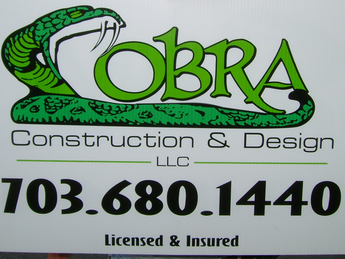 Cobra Construction Yard Sign