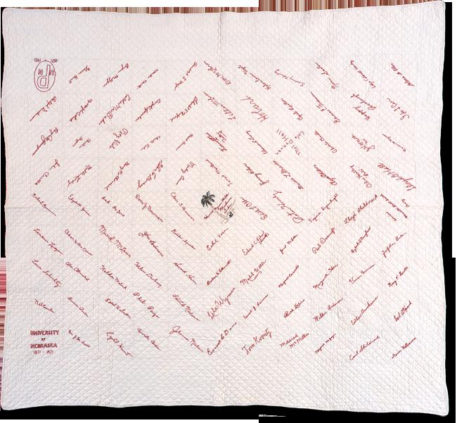 Original, maker unknown, made in Lincoln, Nebraska, c. 1921, 69 x 74.5, IQSCM 1998.004.0001