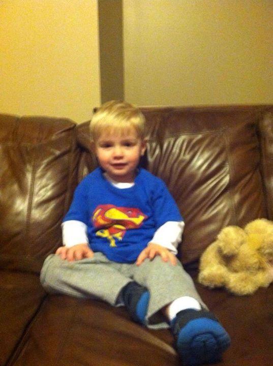 Look at this cute superhero, Cooper Klutman. Thanks you guys!