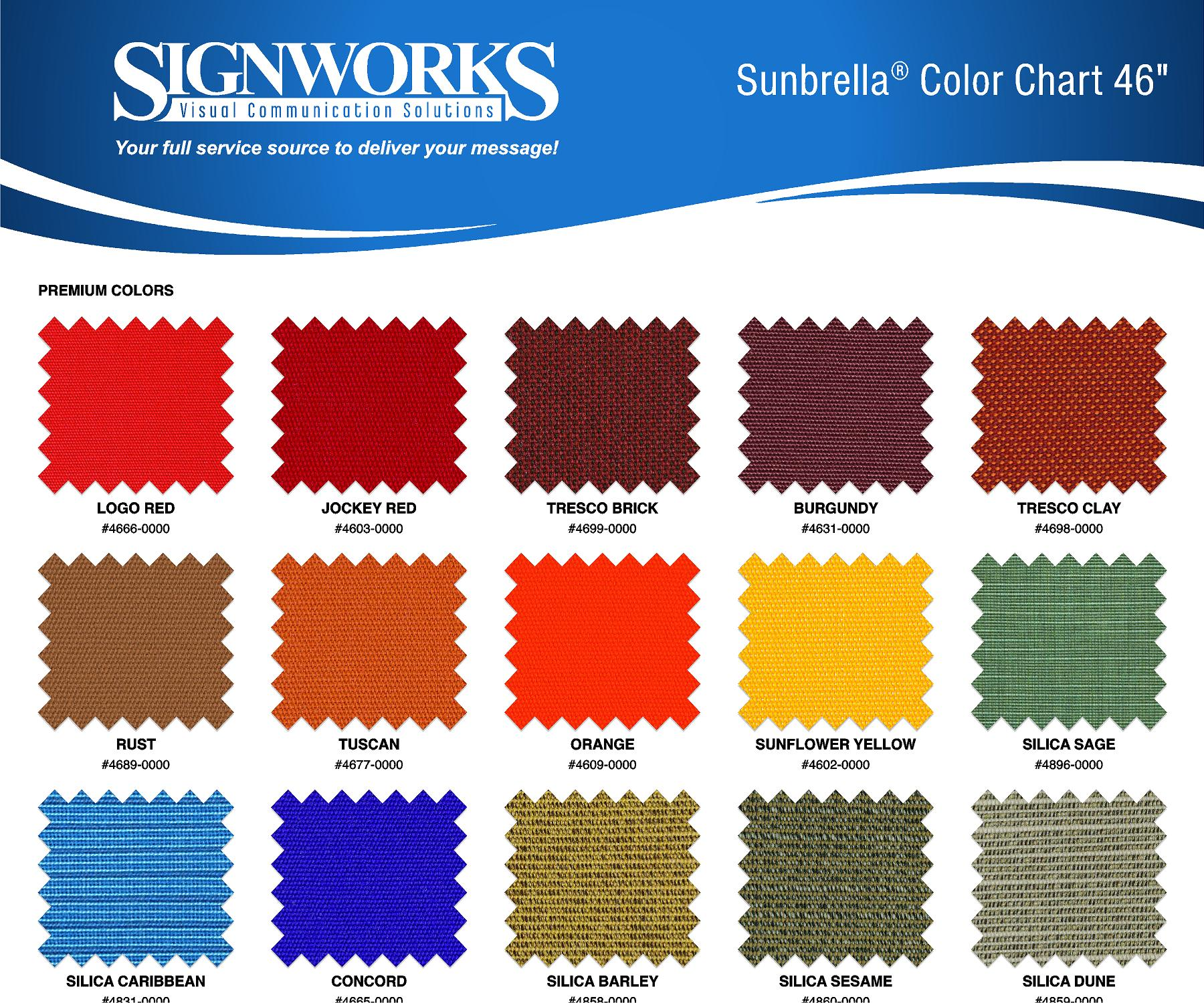 Sunbrella Fabric Options